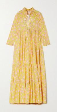 Cora tiered floral-print TENCEL Lyocell-twill maxi dress