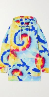 Daria hooded tie-dyed organic cotton-jersey mini dress