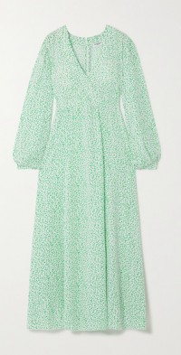 Elsa wrap-effect printed TENCEL Lyocell-twill maxi dress