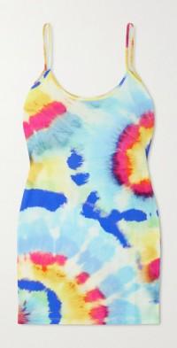Juliette tie-dyed organic cotton-jersey mini dress