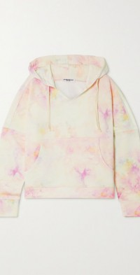 Lily tie-dyed organic cotton-jersey hoodie