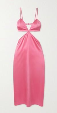 Luxe cutout silk-blend charmeuse nightdress