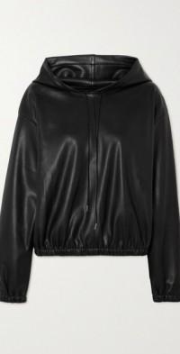 Agata faux leather hoodie