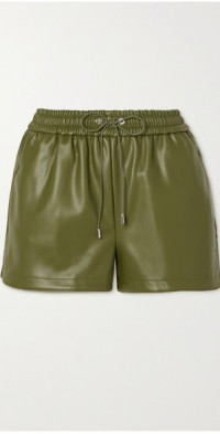 Agata faux leather shorts