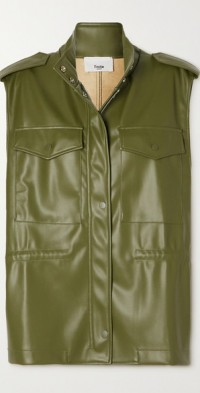Ines faux leather vest