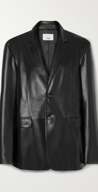 Olympia faux leather blazer