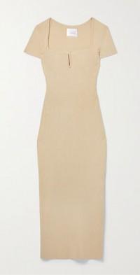 Freya ribbed-knit midi dress