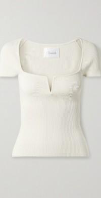 Freya ribbed-knit top