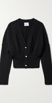 Luna cropped wool-blend cardigan