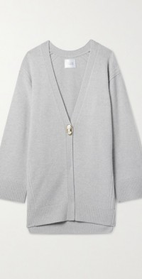 Merino wool and cashmere-blend cardigan