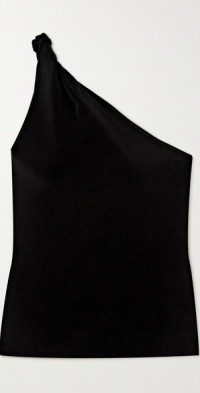 Persephone one-shoulder stretch-knit top