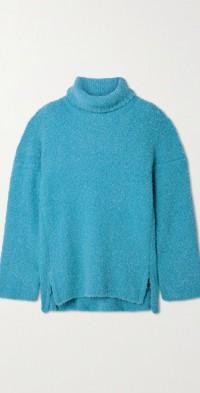 Tidus oversized bouclé turtleneck sweater