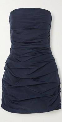 Betty strapless ruched shell mini dress