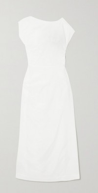 Lily gathered cotton and silk-blend voile maxi dress