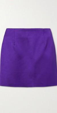 Power satin mini skirt