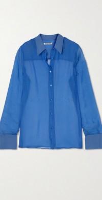 Silk-chiffon shirt