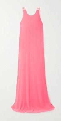 Neon georgette maxi dress