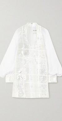 Sequined chiffon mini dress