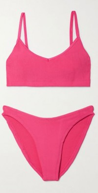 + NET SUSTAIN Virginia Nile ribbed bikini