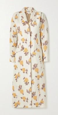 + NET SUSTAIN Elsa floral-jacquard coat