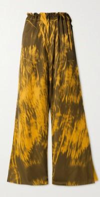 Irene printed satin wide-leg pants