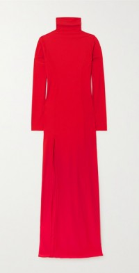 Voltaire stretch-jersey turtleneck maxi dress