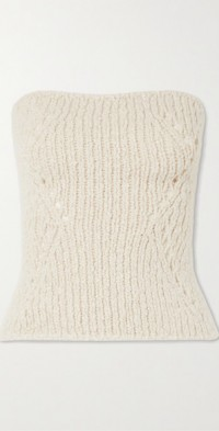 Charlie strapless cashmere sweater