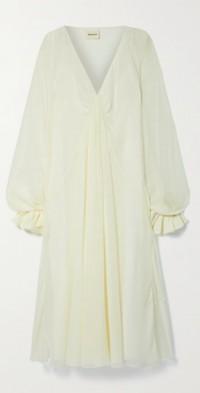 Rami draped silk-georgette midi dress