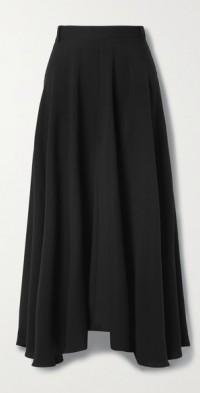 Virginie asymmetric silk-crepe wide-leg pants