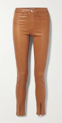 Jyothi coated high-rise skinny jeans