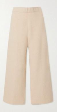 Cashmere-blend track pants