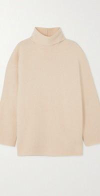Cashmere-blend turtleneck sweater