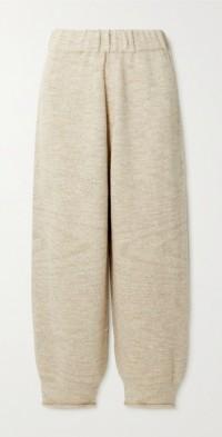 Merino wool and Pima cotton-blend track pants