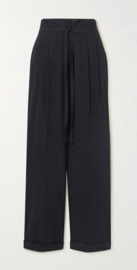 Seersucker straight-leg pants