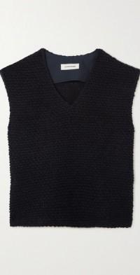 Wool-bouclé vest