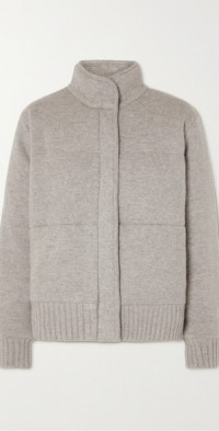 Dillon quilted organic cashmere jacket