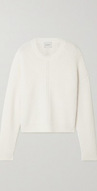 Puglia ribbed organic cashmere sweater