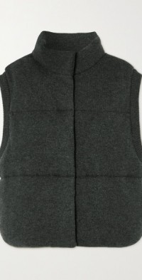Quilted organic cashmere gilet