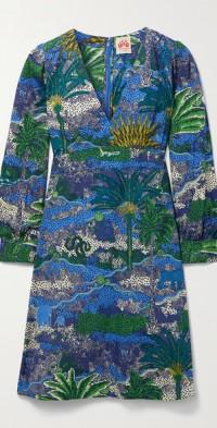 Agea printed cotton-poplin dress
