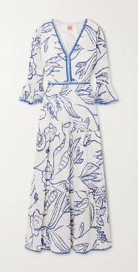 Bella tiered printed cotton-voile maxi dress