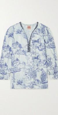 Kate Tarocchi printed cotton-poplin tunic