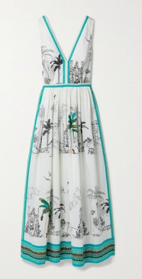 Sophia printed cotton-poplin maxi dress