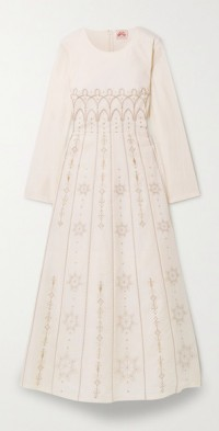 Tracey Palazzina embroidered cotton maxi dress