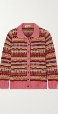 Harper Fair Isle wool cardigan