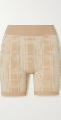 + NET SUSTAIN checked merino wool-blend shorts
