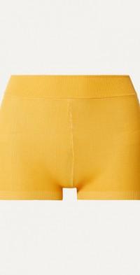 + NET SUSTAIN Yoni striped technical organic cotton-blend shorts