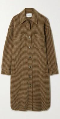 Cruza oversized checked wool and silk-blend coat