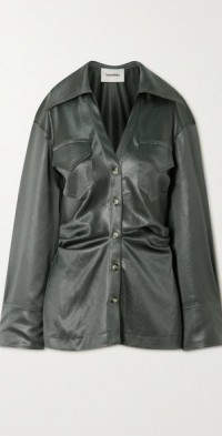 Dale ruched satin shirt
