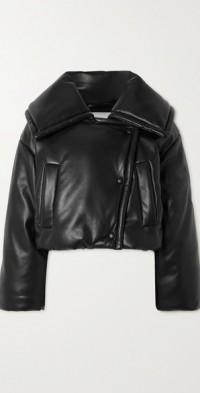 Jamie padded vegan leather jacket