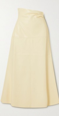 Melody vegan leather midi skirt
